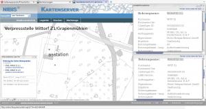 Kartenausschnitt: Tiefbohrungen Wittorf Z1 (1) und (2)