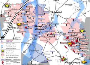 Karte der Förder- und Verpressbohrungen im Landkreis Rotenburg/Wümme.