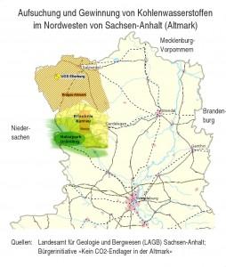 Karte Raumsituation in der Altmark