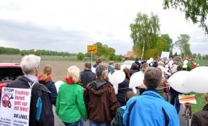 Demo gegen Lagerstättenwasser-Verpressung zwischen Dahlbrügge und Völkersen