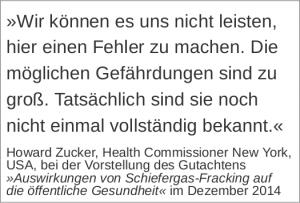 ein zitat gegen Fracking