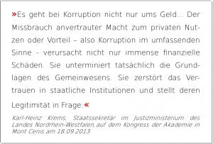 Korruption auch ohne Geld