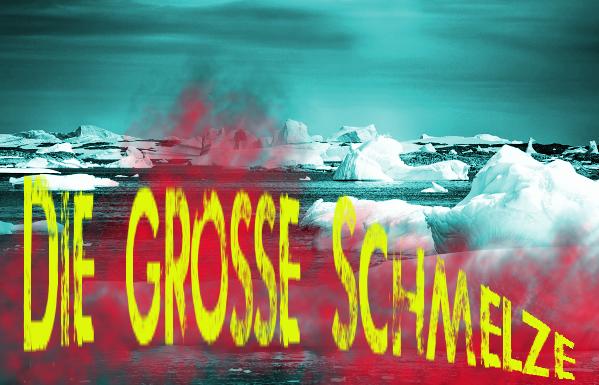 Eismeer verfremdet, schmelzend