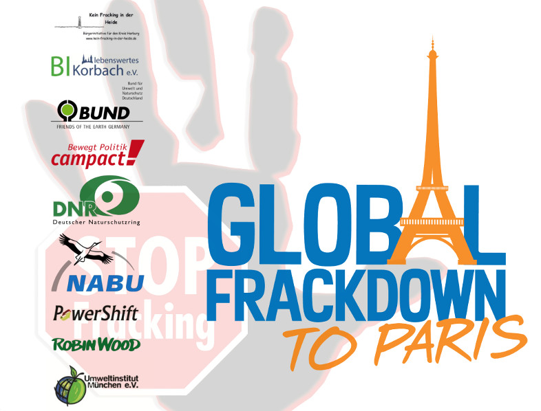 Illustration zum Global Frackdown to Paris (2015)