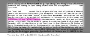 Auszug aus der Erlaubnisakte Bramstedt