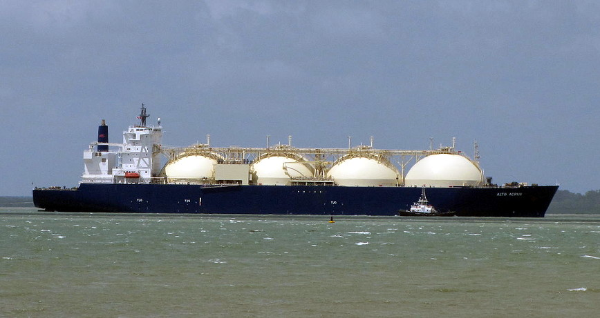 LNG vessel Alto Acrux; photo by kenhodge13@wikimedia