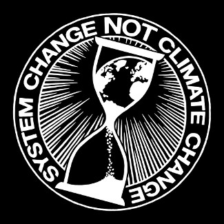 Icon: »System change, not climate change.«
