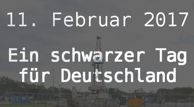 illustration: ein schwarzer tag für deutschland - inkrafttreten des fracking-gesetzpakete