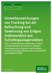 Cover UBA-Gutachten Fracking II, 2014